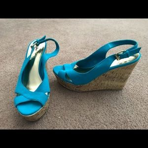 Turquoise Mossimo Wedges